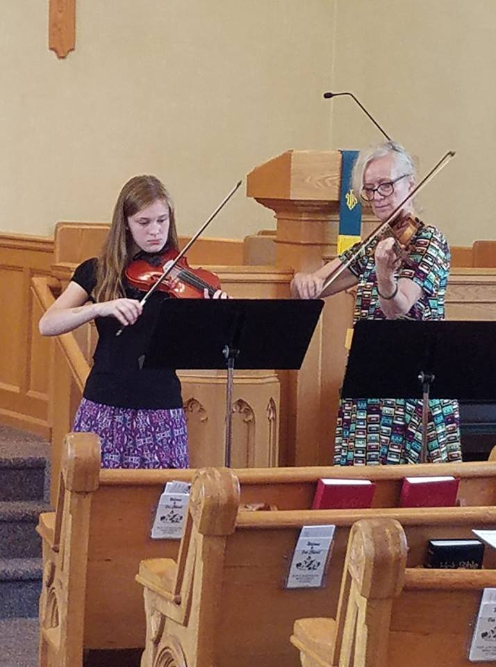 Summer Special Music violin duets played by Alison Jewer and Iselin Hegg.